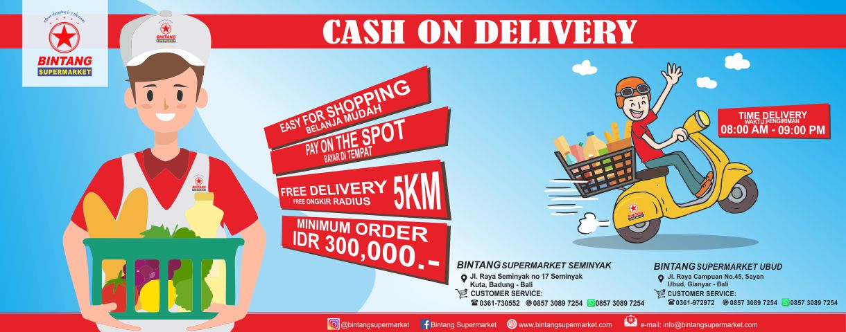Cash On Delivery at Bintang Supermarket
